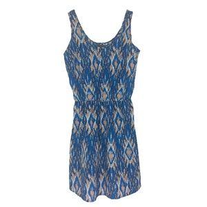 Sunday in Brooklyn Blue Geometric Print Dress